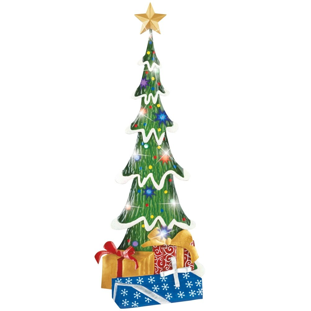 lighted christmas tree topiary garden stake - Lighted Christmas Tree Lawn Decoration