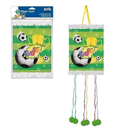 ALMACENESADAN 9968, Piñata viñeta Goal, Futbol, con 6 Cintas, Dimensiones 20x30 cm