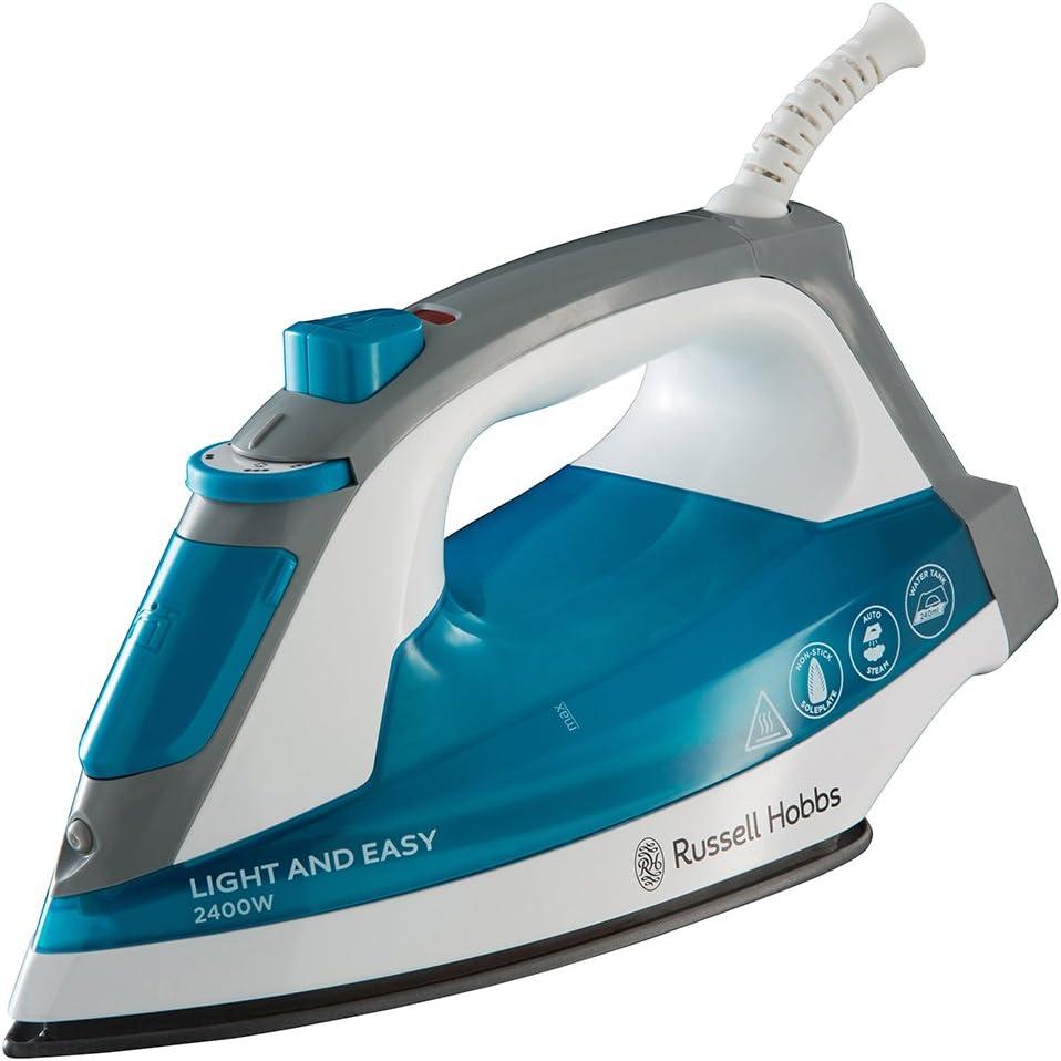 Russell Hobbs 23590-56 Plancha de vapor, 2400 W, color azul y blanco, 240 milliliters, Cerámica