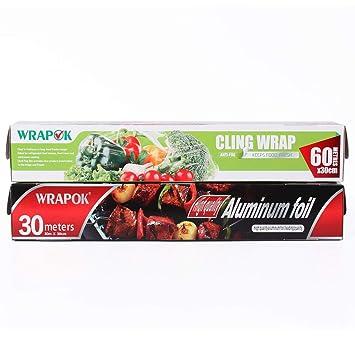 WRAPOK 1 x Traje de película adhesiva para catering de film ...