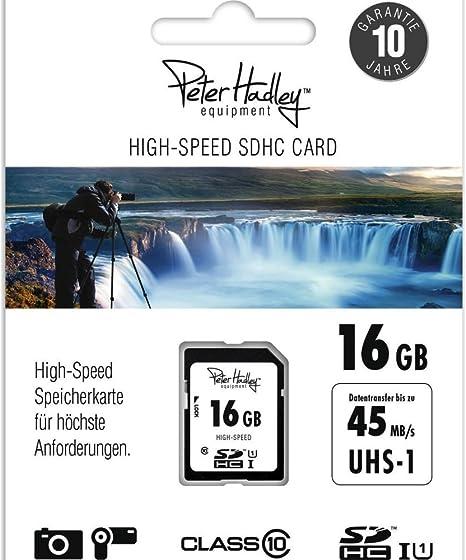 Peter Hadley 16gb Sdhc High Speed Class 10 Uhs 1 Memory Elektronik