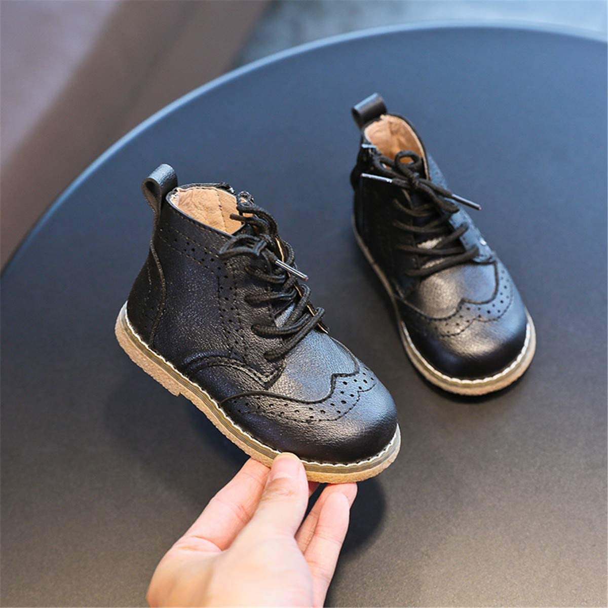Baby//Toddler//Little Kid ENERCAKE Toddler Girls Boys Hiking Boots Anti-Slip Waterproof Side Zipper Lace-Up Snow Boots