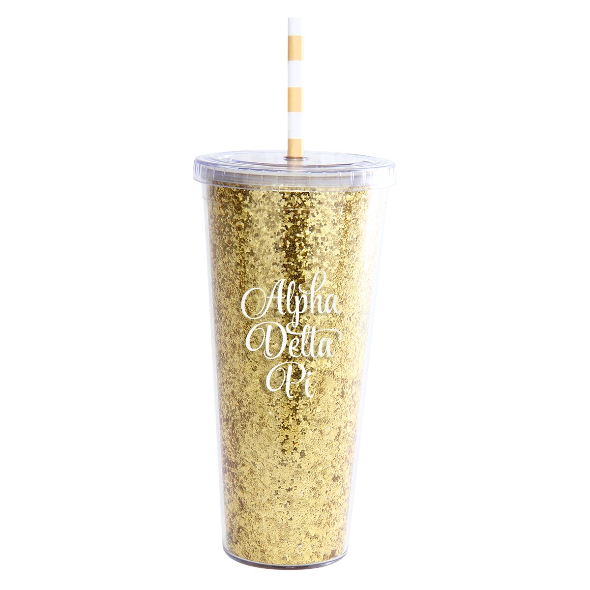 Alexandra And Company Glitter Tumbler Gold
