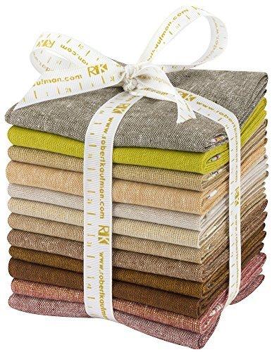 Elizabeth Hartman Terrarium Essex Coordinates Warm 12 Fat Quarters Robert Kaufman Fabrics - Fat Quarters Woven
