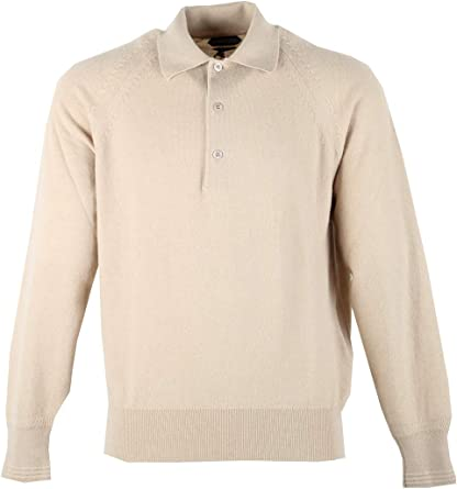CL - TOM Ford Beige Long Sleeven Polo Sweater Size 48 / 38R U.S. ...