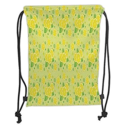 Amazon Com Kitchen Decor Lemon And Lime Pattern Retro