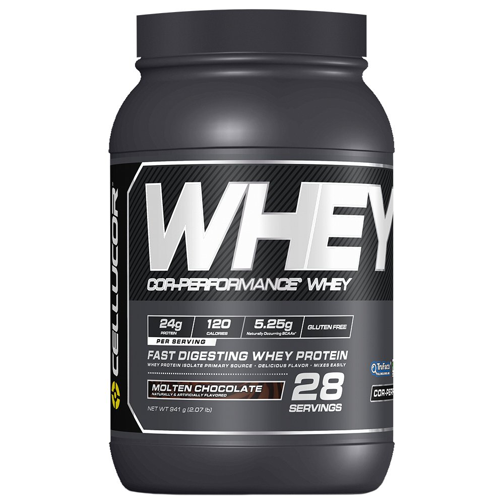 Cellucor Whey Protein Isolate Powder with BCAAs, Post Workout Recovery Drink, Gluten Free Low Carb Low Fat, Molten Chocolate, 28 Servings