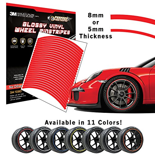 Perfect Pinstripe Gloss Wheel Kit | Pre-Cut 3M 1080 Vinyl Pinstriping | Curved Tape for A (18