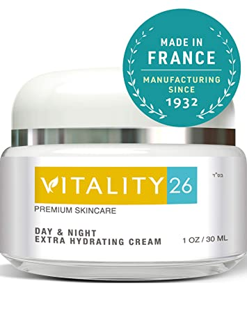 Vitality26 Anti Age Cream for Face – Treat Wrinkles, Fine Lines Crows Feet An Instant Wrinkle Remover For Face made with Shea Butter, Avocado Oil, Wild Yam Vitamin E – Natural Firming Face Cream