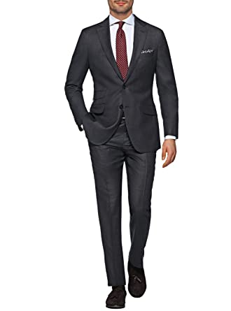 b1015507e8de3a LN LUCIANO NATAZZI Italian Men's Suit 180'S Wool Cashmere Ticket Pocket  Jacket (36 Short US