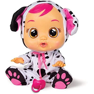 Cry Babies Dotty Doll, Black, White, Pink: Toys & Games