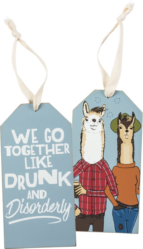 Bottle Tag - Drunk & Disorderly, Set of 3