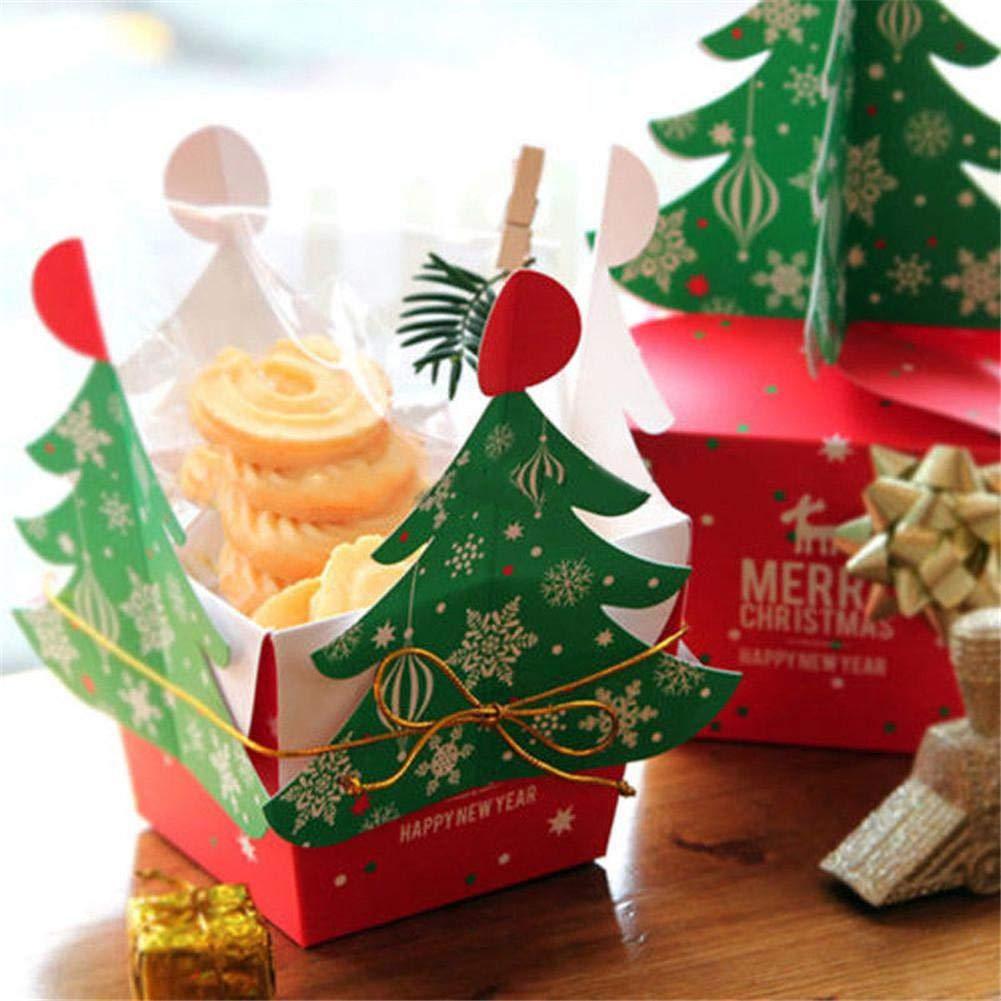 CatcherMy Sacs de Cadeaux de No/ël Bo/îte de Rangement pour sapins de No/ël Petits g/âteaux /à Dessert Bonbons Bonbons Bo/îtes de Rangement pour Bonbons Pochettes de Bonbons de No/ël Sacs de friandises