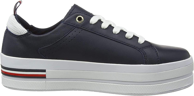 Tommy Hilfiger Corporate Flatform Sneaker, Zapatillas para Mujer