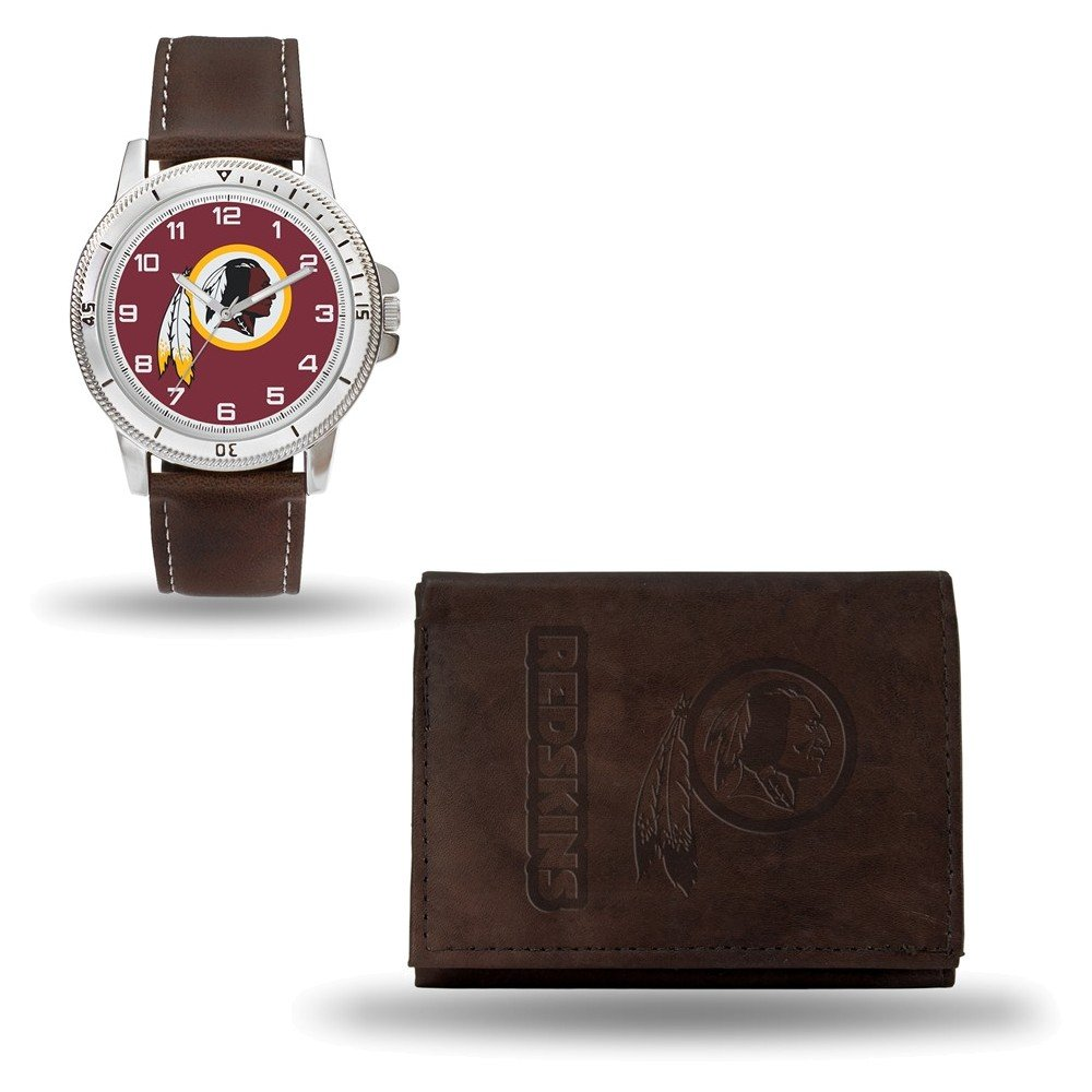 Jewelry Adviser Nfl Gifts NFL Washington Redskins Leather Watch/Wallet Set by Rico Industries