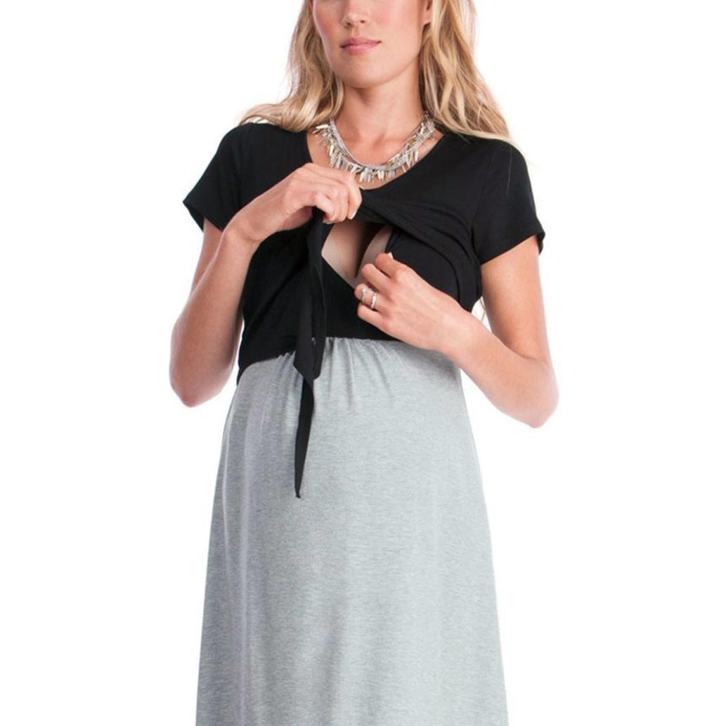 Ropa Embarazadas Vestido Premama Lactancia AIMEE7 Vestido De Lactancia Femenino con Correa Multi Funcional: Amazon.es: Ropa y accesorios