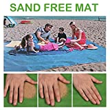 xrime Sand Free Beach Mat Blanket-Waterproof Windproof Mat Blanket for Picnic Camping Outdoor Event Easy to Clean Dust Prevention 200 * 200cm