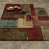 Elegant Collection – Abstract Checkered Contemporary Modern Area Rug 5×7 (5'3″ x 7'3″) For Sale