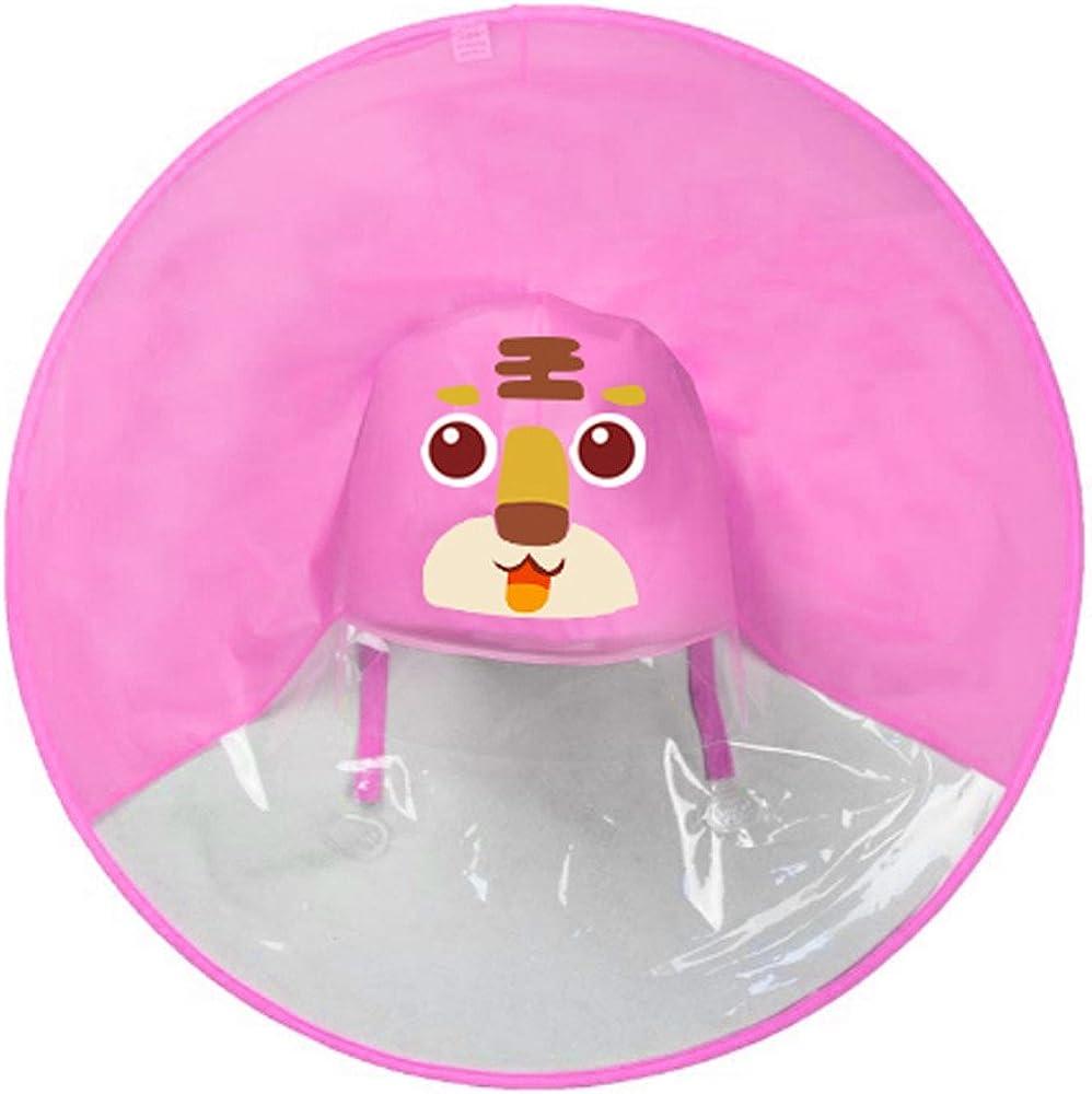kaifongfu Toddler Kids Cute Rain Coat UFO Style Children Umbrella Hat Magical Hands Free Raincoat