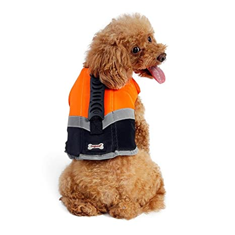 Petneces Chaleco salvavidas portátil para perro, con reflectante de seguridad para la vida de mascotas: Amazon.es: Productos para mascotas