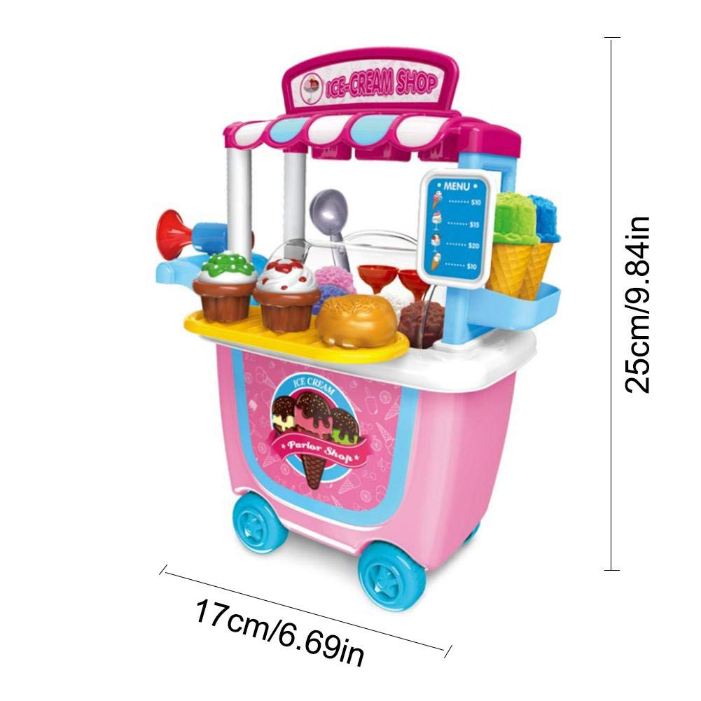 Amazon.com : Pre-Kindergarten Toys House Toys mall Supermarket Toy Trolley Car Barrel BBQ Trolley Birthday Christmas Gift for Boys Girls Kids Children : ...