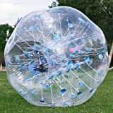LOVSHARE 5FT Inflatable Bumper PVC Bubble Soccer Ball Dia 5FT 1.5M Zorbing Giant Human Hamster Ball for Adults or Child (5FT Blue Dot)