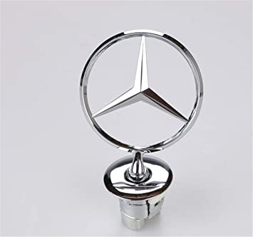 llfaith Mercedes-Benz Motore Coperchio Star Hood 3D Logo Emblema