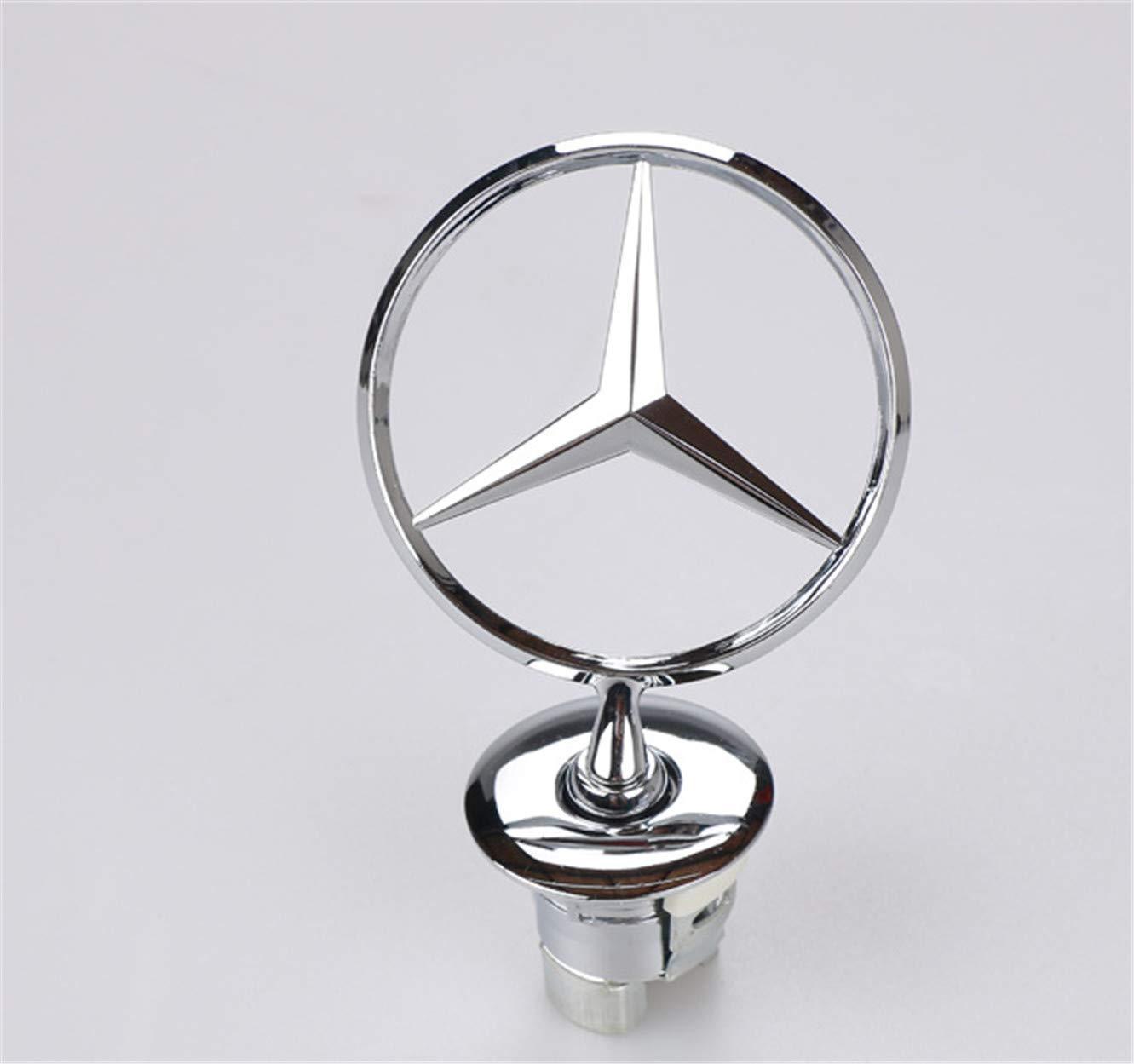 Insignia con el Logotipo de la Estrella del Motor de Mercedes-Benz en 3D (Plateada): Amazon.es: Coche y moto