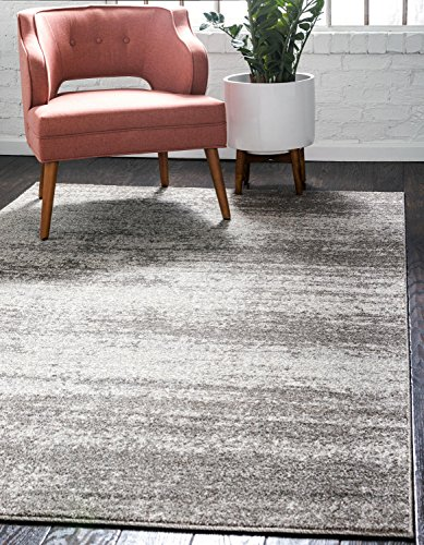 Unique Loom Del Mar Collection Contemporary Transitional Gray Area Rug (7' x 10')
