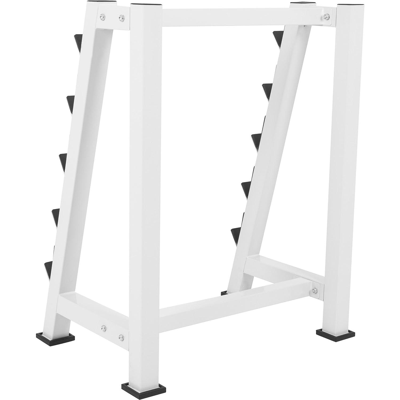 bis 500 kg belastbar in Weiss GORILLA SPORTS/® Hantelst/änder f/ür Langhanteln mit 5 Ablagen