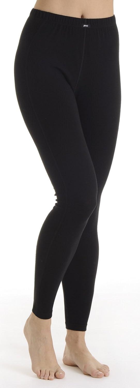 Damen Thermo Unterhose lang, Thermohose Skihose für Damen in schwarz
