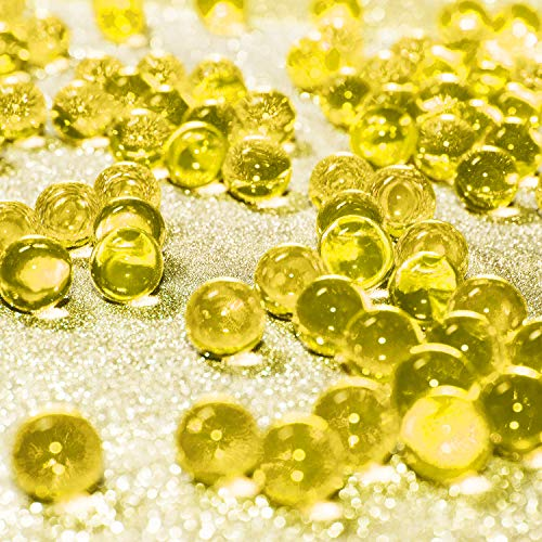 Gold Water Beads (Hicarer 10000 Pieces Vase Filler Beads Gems Water Gel Beads Growing Crystal Pearls Wedding Centerpiece Decoration)
