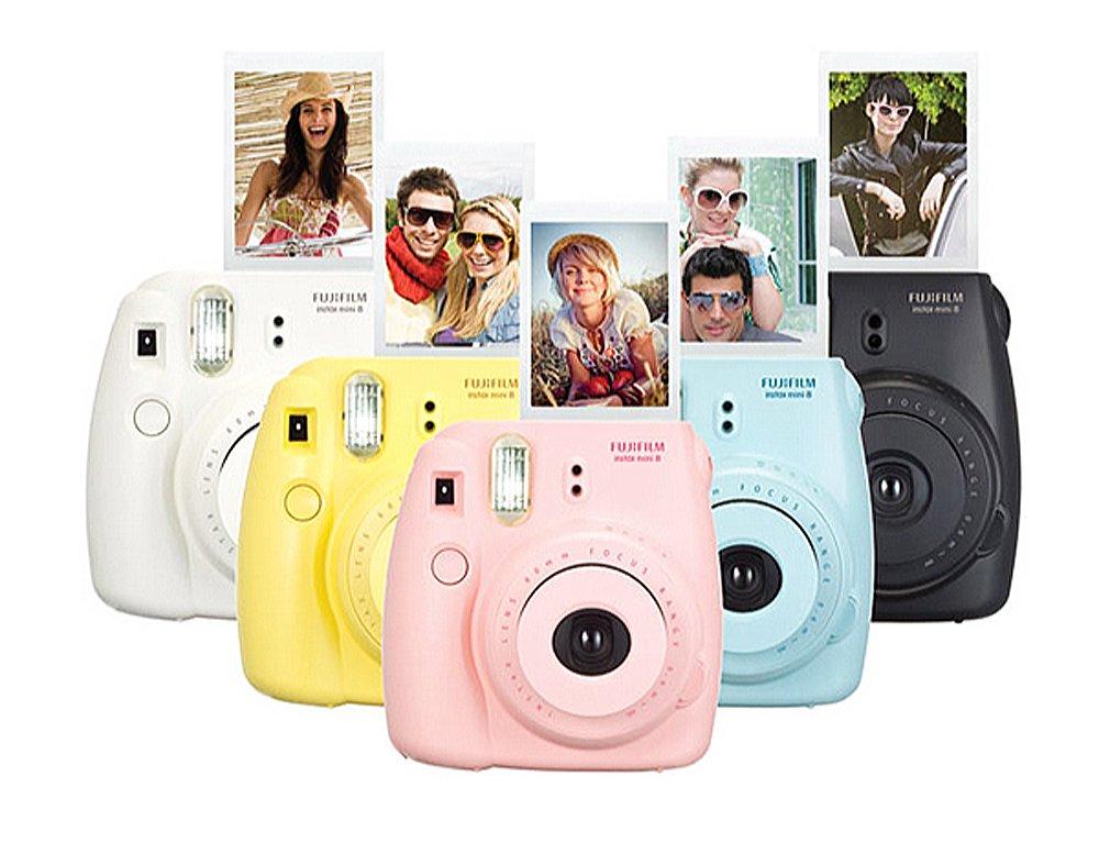 Fujifilm Instax Mini 100 Film for Fuji 7s 8 25 50s 90 300 Instant Camera, Share SP-1 White,pack of 5