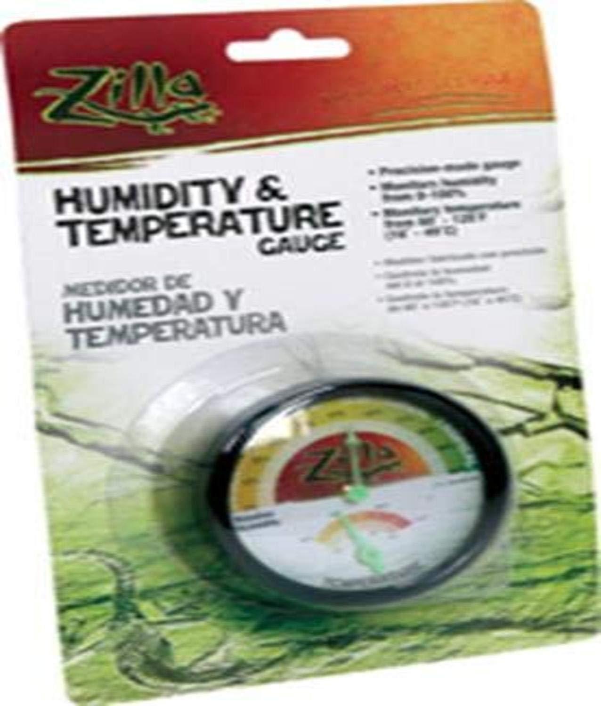 Zilla Reptile Terrarium Thermometer & Humidity Gauge