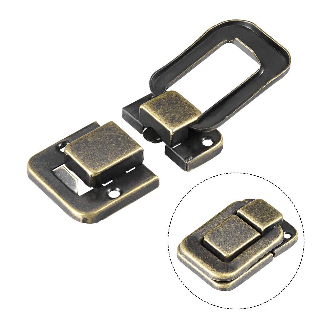sourcing map 2Stk.Toggle Latch Holzkiste Hasp Verschluss/Koffer Verriegeln mit Schrauben 48mm DE de