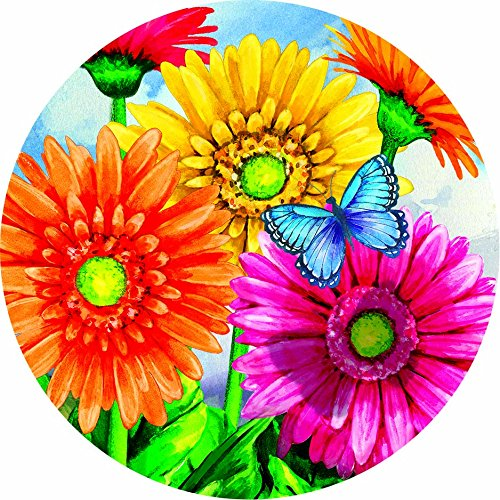 Accent Magnet-Gerbera Welcome - Auto - Home - Kitchen -Yard -Six (6) Inch - Made in USA - Licensed , Copyrighted by Custom Decor Inc.