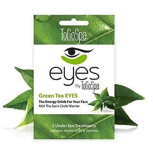 ToGoSpa Green Tea Eyes, Pair of 3