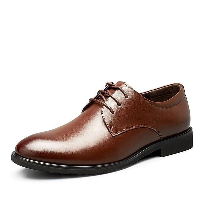 MUYII Oxfords Dress Shoes For Men Uomo Lace-up Plain Toe Business Formale  Scarpe In Pelle Classic Mens Scarpe Comode  Amazon.it  Abbigliamento a607311e7e2