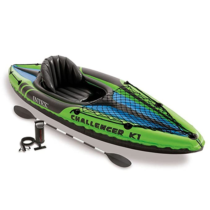 KAYAK HINCHABLE CON REMO K1 INTEX 274 X 76 X 33 CM.: Amazon.es ...
