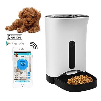 home-neat dispensador automático de comida para perros y gatos – caractéristiques alarmas de distribución, webcam y grabadora de voz – Temporizador ...