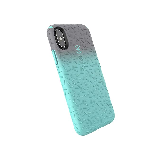 quality design a26a1 c3ba2 Speck Products CandyShell Fit iPhone Xs/iPhone X Case, Gunmetal Grey Ombre  Zeal Teal/Zeal Teal