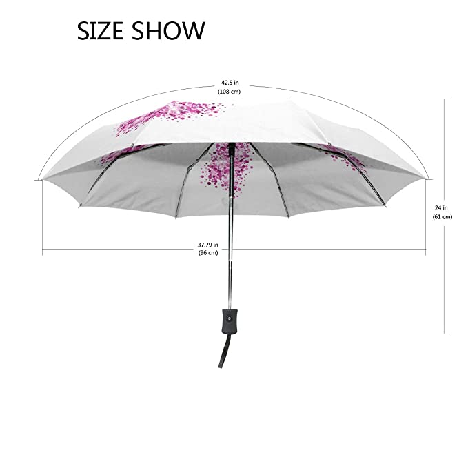 Amazon.com: Naanle Breast Cancer Awareness Pink Ribbon Auto Open Close Foldable Travel Umbrella: Sports & Outdoors