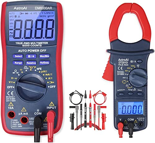 AstroAI Digital Multimeter Clamp Meter Test Leads Bundle