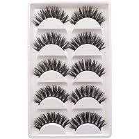 3D Eyelashes 5Pairs Real 3D Mink Hair Luxurious 100% Siberian Mink Fur 3D False Eye Lashes