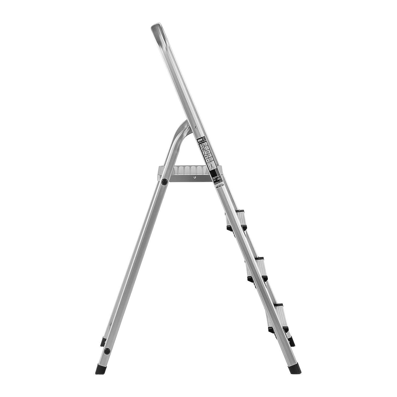 3 Stufen, max. H/öhe 1,2 m, max. 150 kg, klappbar MSW Haushaltsleiter Alu Leiter Stehleiter Trittleiter Klappleiter MSW-AT3