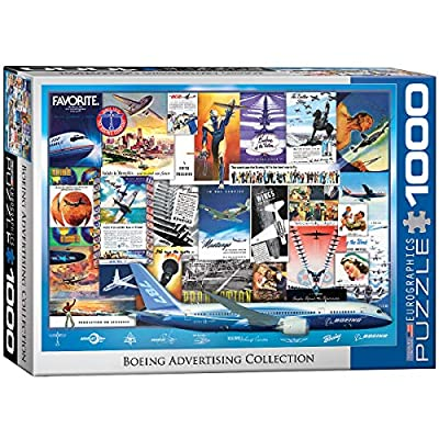 EuroGraphics Boeing Vintage Ads Collection Puzzle (1000 Pieces): Toys & Games