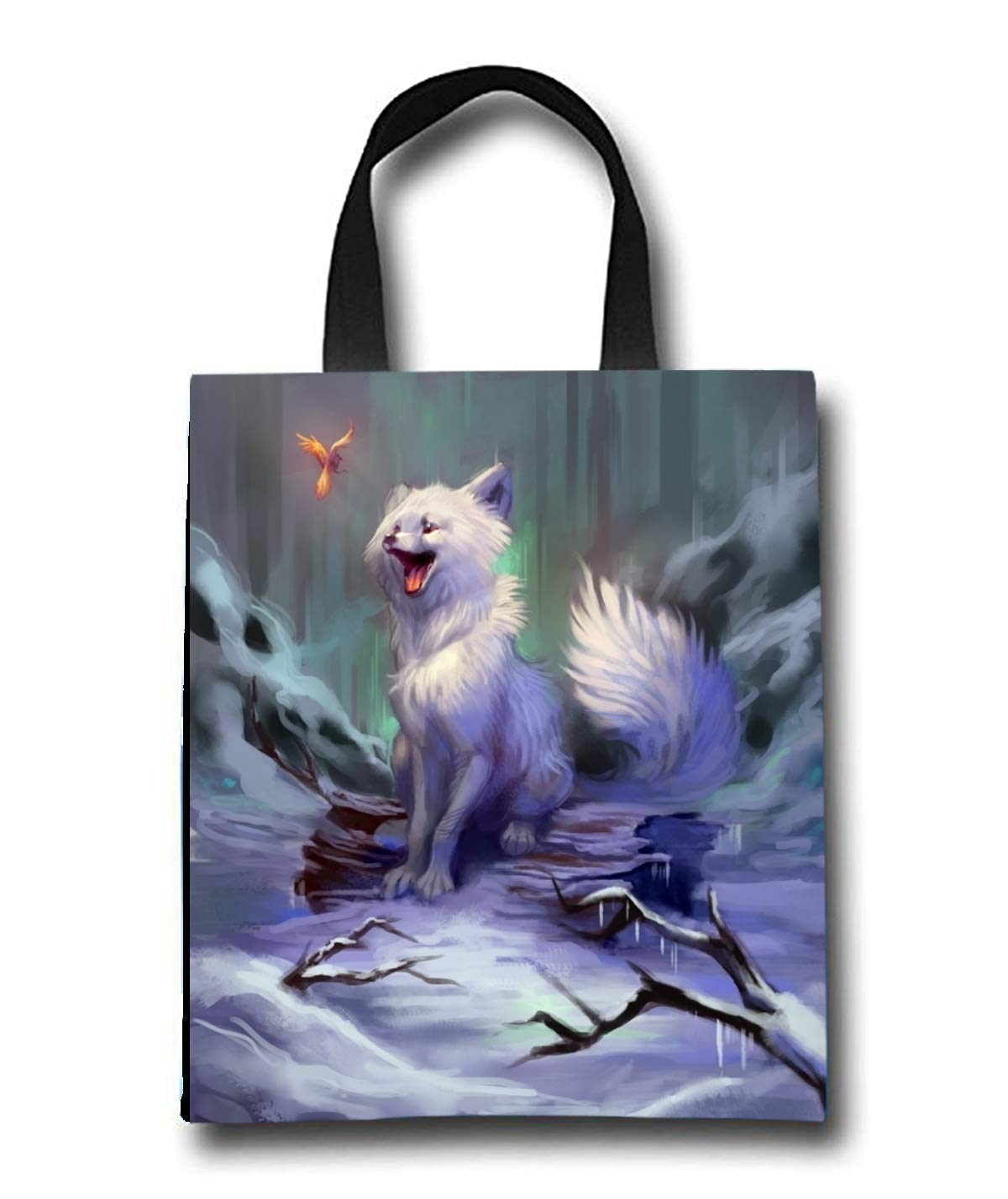 Cartoon Fox Beach Tote Bag - Toy Tote Bag - Large Lightweight Market, Grocery & Picnic