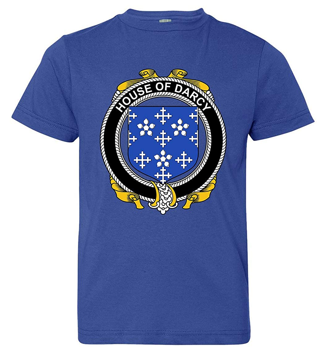 X-Large Tenacitee Boys Youth Irish House Heraldry Darcy T-Shirt Royal Blue