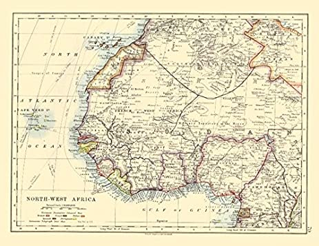 Amazon.com: COLONIAL/FRENCH WEST AFRICA. Spanish Guinea. Rio de Oro ...