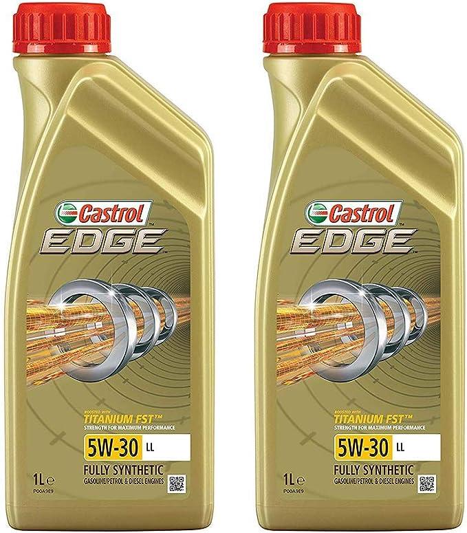 2x 1 L Liter Castrol Edge Fluid Titanium 5w 30 Ll Motoröl Inkl Castrol Ölwechselanhänger Auto